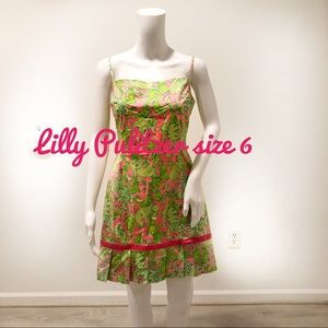 Lilly Pulitzer Size 6 pink and green dress